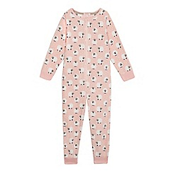 bluezoo - Girls' pink sheep print pyjama onesie