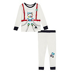bluezoo - Boys' white astronaut print top and bottoms set