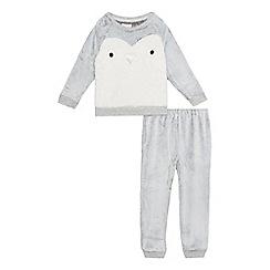 bluezoo - Baby grey penguin pyjama set