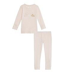 J by Jasper Conran - Girls' pink striped bunny pyjama set