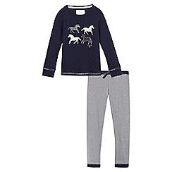 J by Jasper Conran - Girls' navy blue horse pyjama set