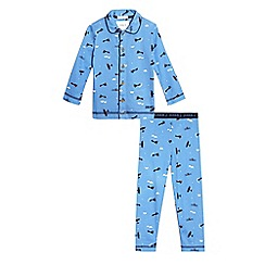 J by Jasper Conran - Boys' blue airplane print pyjama set