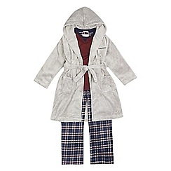 J by Jasper Conran - Boys' grey three piece pyjama set