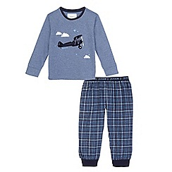 J by Jasper Conran - Boys' blue plane applique pyjama set