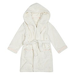 J by Jasper Conran - Girls' cream hooded dressing gown