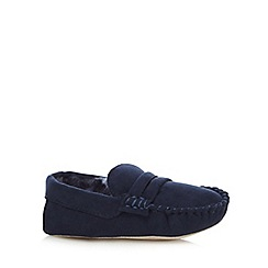 J by Jasper Conran - Boys' navy moccasin slippers