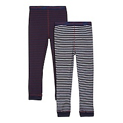 J by Jasper Conran - Set of two navy striped pyjama bottoms