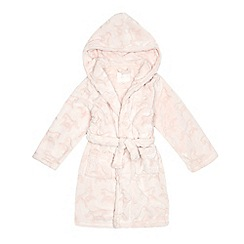 J by Jasper Conran - Girls' light pink horse embossed dressing gown