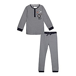 J by Jasper Conran - Boys' navy striped pyjama set