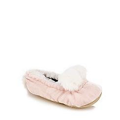 J by Jasper Conran - Girls' pink bunny slippers