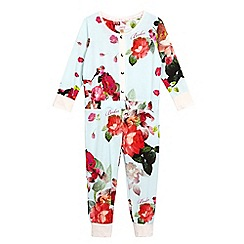 Baker by Ted Baker - Girls' multi-coloured floral print all-in-one