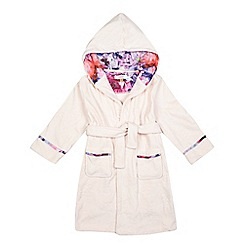 Baker by Ted Baker - Girls' light pink debossed logo dressing gown