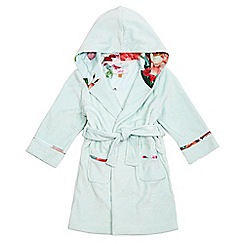 Baker by Ted Baker - Girls' light green debossed logo dressing gown