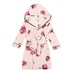 Baker by Ted Baker - Girls' pink tulip print hooded dressing gown