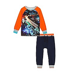 Baker by Ted Baker - Boys' navy and orange racing car print pyjama set