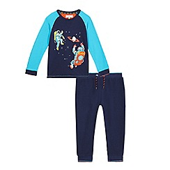 Baker by Ted Baker - Boys' navy astronaut print pyjama top