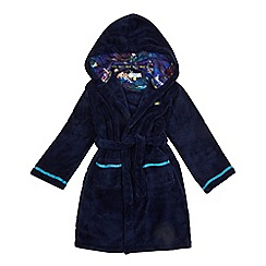 Baker by Ted Baker - Boys' navy debossed logo dressing gown