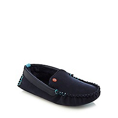 Baker by Ted Baker - Boys' navy moccasin slippers