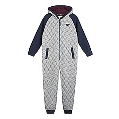 Baker by Ted Baker - Boys' grey geo print onesie