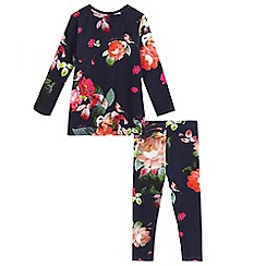 Baker by Ted Baker - Navy rose print pyjama set