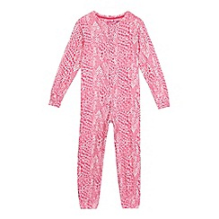 Pineapple - Girls' pink leopard print all-in-one
