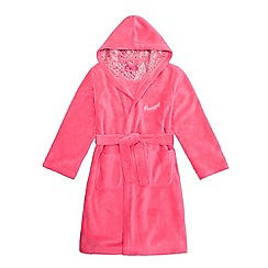 Pineapple - Girls' pink 'Pineapple' embroidered dressing gown