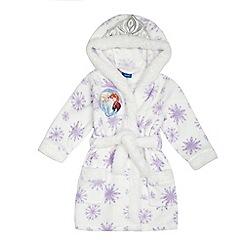 Disney Frozen - Girls' white snowflake print 'Frozen' dressing gown