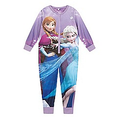 Disney Frozen - Girls' lilac 'Frozen' print all-in-one