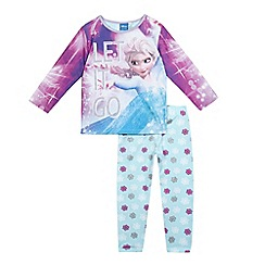 Disney Frozen - Girls' lilac 'Frozen' print pyjama set