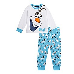 Disney Frozen - Boys' white and blue 'Frozen Olaf' print pyjama set