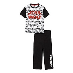 Star Wars - Boys' white Star Wars print pyjama top