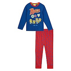 Despicable Me - Boys' blue minion print pyjama set