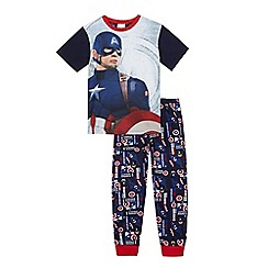 Captain America - Boys' navy 'Captain America' pyjama set