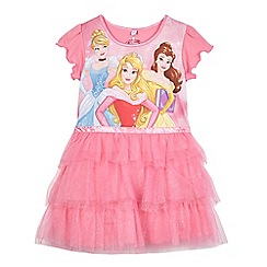Disney Princess - Girls' pink princess print night dress