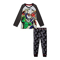 The Avengers - Boys' grey and black 'Avengers' print pyjama set