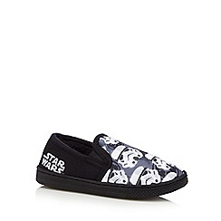 Star Wars - Boys' black 'Star Wars' slippers