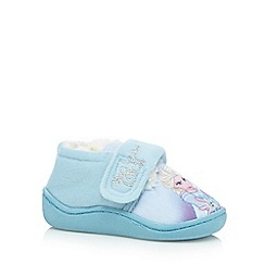 Disney Frozen - Girls' blue 'Frozen' slippers