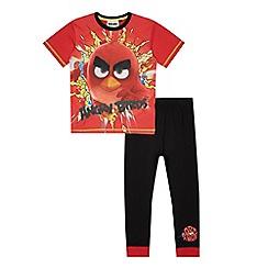 Angry birds - Boys' red 'Angry Birds' pyjama set