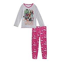 Marvel - Girls' pink comic print pyjama set