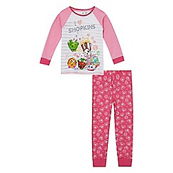 Shopkins - Girls' pink 'I love Shopkins' print pyjama set