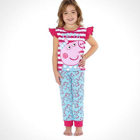 Peppa Pig - Girl+s pink +Peppa Pig+ pyjamas