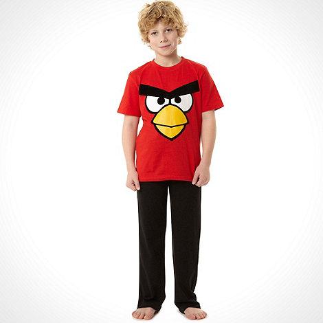 angry birds - Boy+s black +Angry Birds+ pyjamas