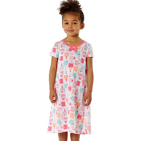 bluezoo - Girl+s pack of two pink cat night dresses