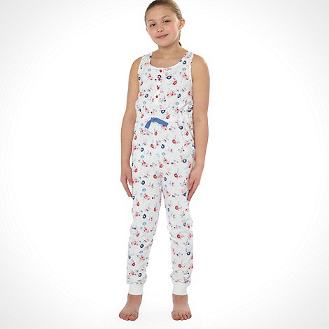 Mantaray - Girl+s multi floral printed onesie