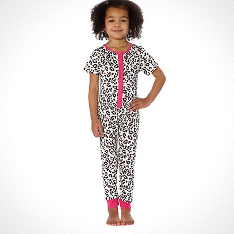 bluezoo - Girl+s multi leopard printed onesie