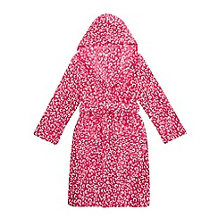 bluezoo - Pink leopard print dressing gown