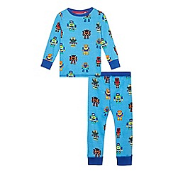 bluezoo - Boys' blue robot print pyjama set