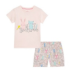 bluezoo - Girls' pink printed pyjama set