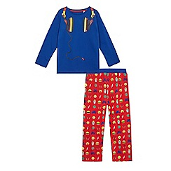 bluezoo - Boys' blue headphone pyjama set
