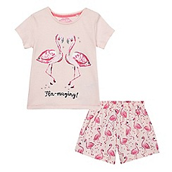 bluezoo - Girls' pink two-piece pyjama set